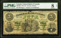 Canadian Currency, Toronto, ON- Federal Bank of Canada $5 July 1, 1874 Ch. #300-10-04.. ...
