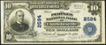 National Bank Notes, Charlottesville, VA - $10 1902 Plain Back Fr. 634 The Peoples NBCh. # 2594. ...