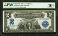 Large Size:Silver Certificates, Fr. 252 $2 1899 Silver Certificate PMG Extremely Fine 40 EPQ.. ...