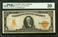 Large Size:Gold Certificates, Fr. 1168 $10 1907 Gold Certificate PMG Very Fine 30.. ...