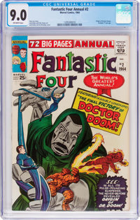 Fantastic Four Annual #2 (Marvel, 1964) CGC VF/NM 9.0 Off-white pages