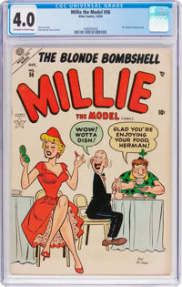 Millie the Model #56 (Marvel, 1954) CGC VG 4.0 Off-white to white pages