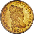 Early Eagles, 1800 $10 BD-1, High R.3, MS62 PCGS....
