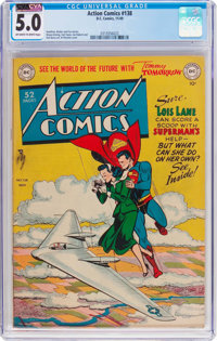 Action Comics #138 (DC, 1949) CGC VG/FN 5.0 Off-white to white pages