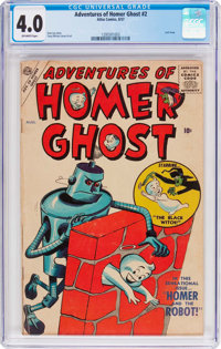 Adventures of Homer Ghost #2 (Atlas, 1957) CGC VG 4.0 Off-white pages