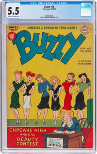 Buzzy #15 (DC, 1947) CGC FN- 5.5 Off-white to white pages