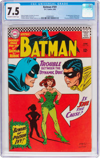Batman #181 (DC, 1966) CGC VF- 7.5 Off-white to white pages