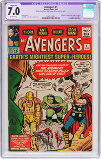 The Avengers #1 (Marvel, 1963) CGC Apparent FN/VF 7.0 Slight (B-1) Off-white pages