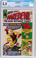 Silver Age (1956-1969):Superhero, Daredevil #1 (Marvel, 1964) CGC FN- 5.5 White pages....