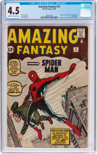 Amazing Fantasy #15 (Marvel, 1962) CGC VG+ 4.5 Cream to off-white pages