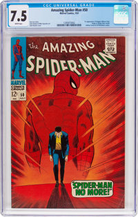 The Amazing Spider-Man #50 (Marvel, 1967) CGC VF- 7.5 White pages