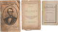 Political:Small Paper (pre-1896), Abraham Lincoln: Assassination and Memorial Imprints.... (Total: 3Items)