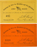 Political:Small Paper (pre-1896), Rutherford B. Hayes and Samuel J. Tilden: Counting the Electoral Votes.... (Total: 2 Items)