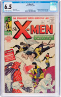 Silver Age (1956-1969):Superhero, X-Men #1 (Marvel, 1963) CGC FN+ 6.5 Off-white to white pages....