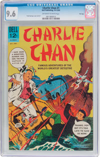 Charlie Chan #1 File Copy (Dell, 1965) CGC NM+ 9.6 Off-white to white pages