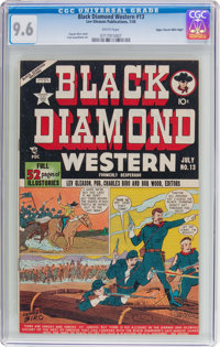 Black Diamond Western #13 Mile High Pedigree (Lev Gleason, 1949) CGC NM+ 9.6 White pages