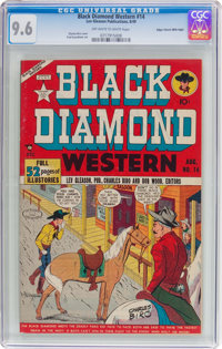 Black Diamond Western #14 Mile High Pedigree (Lev Gleason, 1949) CGC NM+ 9.6 Off-white to white pages