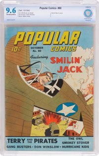 Popular Comics #80 (Dell, 1942) CBCS NM+ 9.6 Off-white to white pages