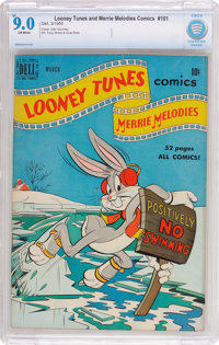 Looney Tunes and Merrie Melodies Comics #101 (Dell, 1950) CBCS VF/NM 9.0 Off-white pages