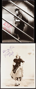 """Movie Posters:Miscellaneous, Eve Arden & Other Lot (c. 1930s). Fine/Very Fine. Trimmed Autographed Photo (7.25"""" X 9.5"""") & Autographed Photo (8"""" X 10""""). M... (Total: 2 Items)"""