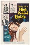 "Movie Posters:Exploitation, Diary of a High School Bride (American International, 1959). One Sheet (27"" X 41""). Exploitation.. ..."