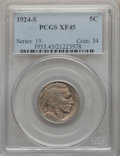 Buffalo Nickels: , 1924-S 5C XF45 PCGS. PCGS Population: (54/431). NGC Census: (43/246). CDN: $900 Whsle. Bid for problem-free NGC/PCGS XF45. ...