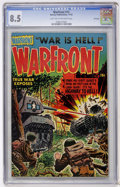 Golden Age (1938-1955):War, Warfront #12 File Copy (Harvey, 1952) CGC VF+ 8.5 Light tan tooff-white pages....