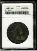 Early Half Dollars: , 1806 50C Pointed 6, Stem Fine15 ANACS. 0-109a....