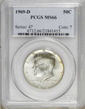 Kennedy Half Dollars: , 1969-D 50C MS66 PCGS. PCGS Population (89/3). NGC Census: (82/4).Mintage: 129,881,800. Numismedia Wsl. Price for NGC/PCGS ...
