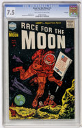 Golden Age (1938-1955):Science Fiction, Race For the Moon #3 File Copy (Harvey, 1958) CGC VF- 7.5 Light tanto off-white pages....