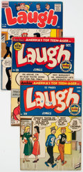 Golden Age (1938-1955):Humor, Laugh Comics Group of 7 (Archie, 1950-59) Condition: Average VG/FN.... (Total: 7 Comic Books)
