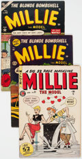 Golden Age (1938-1955):Romance, Millie the Model Group of 5 (Atlas/Marvel, 1950-57) Condition: Average VG.... (Total: 5 Comic Books)