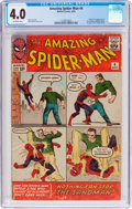 Silver Age (1956-1969):Superhero, The Amazing Spider-Man #4 (Marvel, 1963) CGC VG 4.0 Off-white pages....