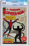 Silver Age (1956-1969):Superhero, The Amazing Spider-Man #3 (Marvel, 1963) CGC VG- 3.5 Cream to off-white pages....