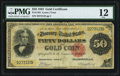 Large Size:Gold Certificates, Fr. 1194 $50 1882 Gold Certificate PMG Fine 12.. ...