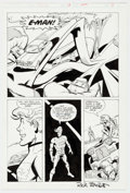 Original Comic Art:Panel Pages, Joe Staton and Rick Burchett E-Man #13 Page 3 Original Art(First, 1984)....