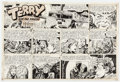 Original Comic Art:Comic Strip Art, George Wunder Terry and the Pirates Sunday Comic Strip Original Art dated 2-5-50 (Chicago Tribune, 1950). ...