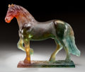Art Glass:Daum, Large Daum Pate-de-Verre Glass Hadrian Horse. Late 20thcentury. Engraved Daum, France, 110/1000. Ht. 12-5/8...