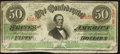 Confederate Notes, T57 $50 1863 PF-3 Cr. 408 State III Plate.. ...