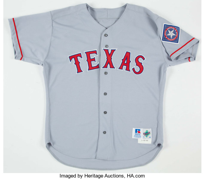 reputable site d3b2f ab93b 1996 Ivan Rodriguez Texas Rangers Game Worn Jersey ...