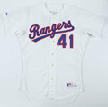 Baseball Collectibles:Uniforms, 1990 Kevin Brown Texas Rangers Game Worn Jersey.. ...