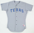 Baseball Collectibles:Uniforms, 1991 Kevin Brown Texas Rangers Game Worn Jersey.. ...