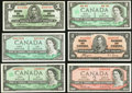 Canadian Currency, A Half Dozen Canadian $1 and $2 Notes.. ... (Total: 6 notes)