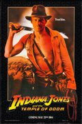 """Movie Posters:Adventure, Indiana Jones and the Temple of Doom (Paramount, 1984). Rolled, Very Fine-. One Sheet (27"""" X 41"""") SS Advance. Adventure.. ..."""