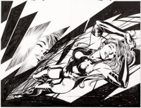 Alan Davis and Mark Farmer Uncanny X-Men #455 Splash Pages 3-4 Original Art (Marvel, 2005).... (Total: 2 Original Art)