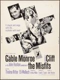"Movie Posters:Drama, The Misfits (United Artists, 1961). Poster (30"" X 40""). Drama.. ..."
