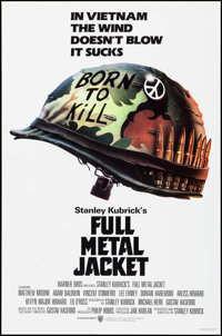 "Full Metal Jacket (Warner Brothers, 1987). One Sheet (27"" X 41"") Advance, Phillip Castle Artwork. War"