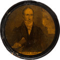 Political:3D & Other Display (pre-1896), Henry Clay: Youthful Portrait Snuff Box....