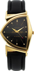 Timepieces:Wristwatch, Hamilton Rare 14k Gold Pacer, GE Presentation Watch, circa 1960....