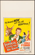 "Movie Posters:Comedy, Francis Covers the Big Town & Other Lot (Universal International, 1953). Window Cards (2) (14"" X 22""). Comedy.. ... (Total: 2 Items)"